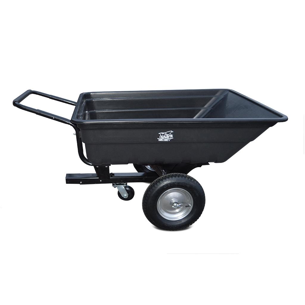 SHARK GARDEN 150 vozík za čtyřkolku, zahradní traktůrek, s adpatérem na tažné, černý