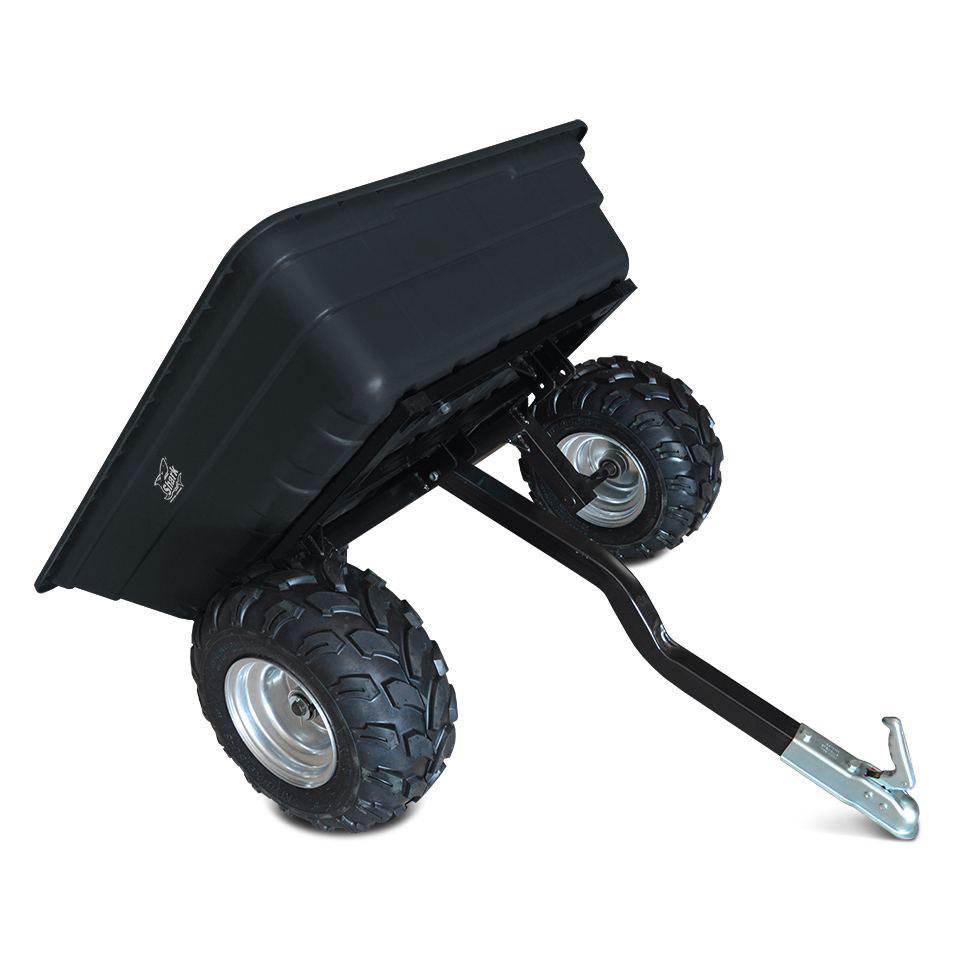 SHARK GARDEN 300, vozík za čtyřkolku, zahradní traktůrek, černý