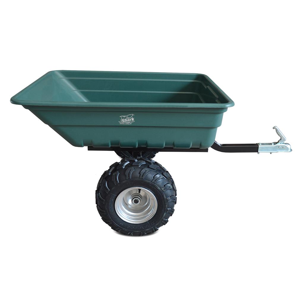 SHARK GARDEN 300, vozík za čtyřkolku, zahradní traktůrek, zelený
